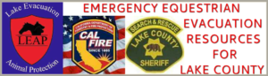 EMERGENCY EQUESTRIAN EVACUATION RESOURCES FOR LAKE COUNTY - Lake County Horse Council